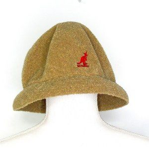 Kangol Bermuda Cloche Bucket Hat Khaki Gold